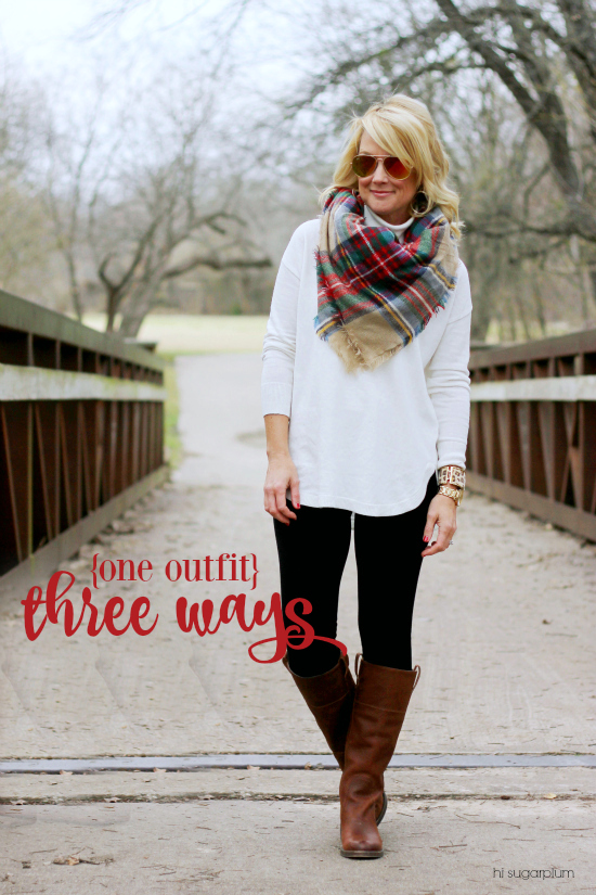 one fall outfit styled three ways
