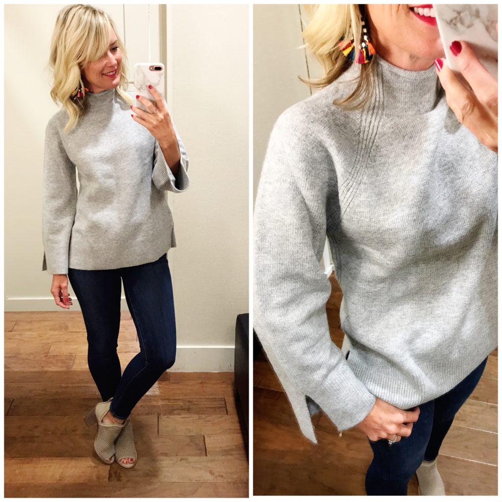 loft funnel neck sweater