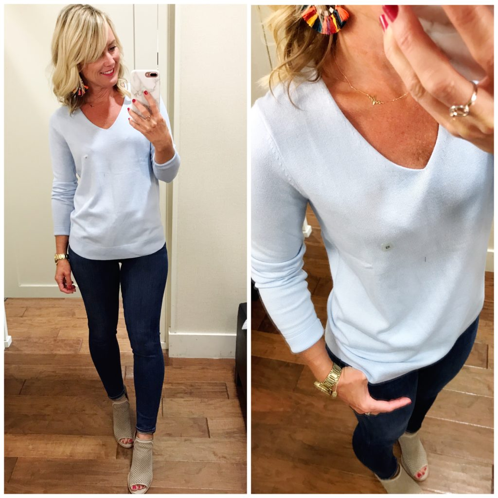 loft vneck sweater