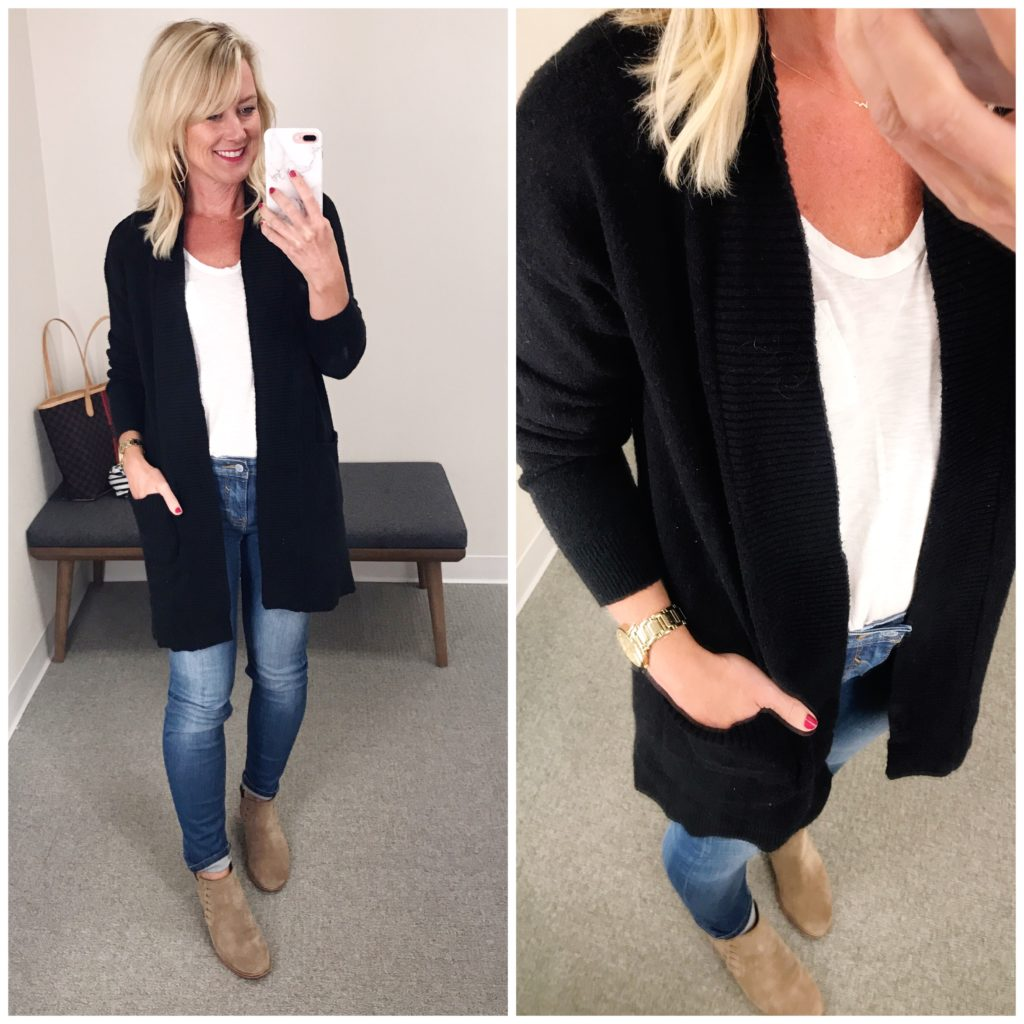 nordstrom black oversized cardigan