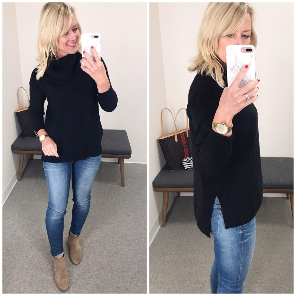 nordstrom black turtleneck