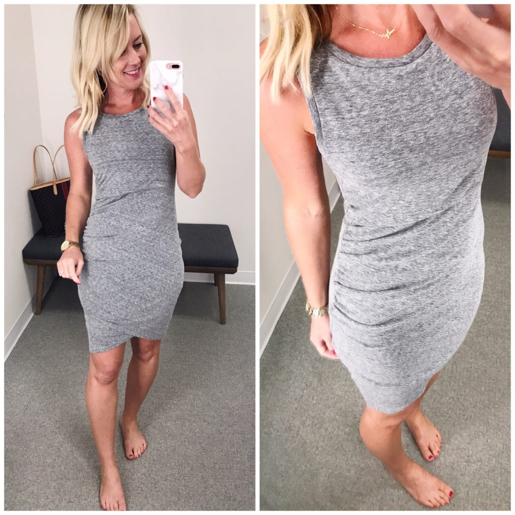 nordstrom ruched tank dress