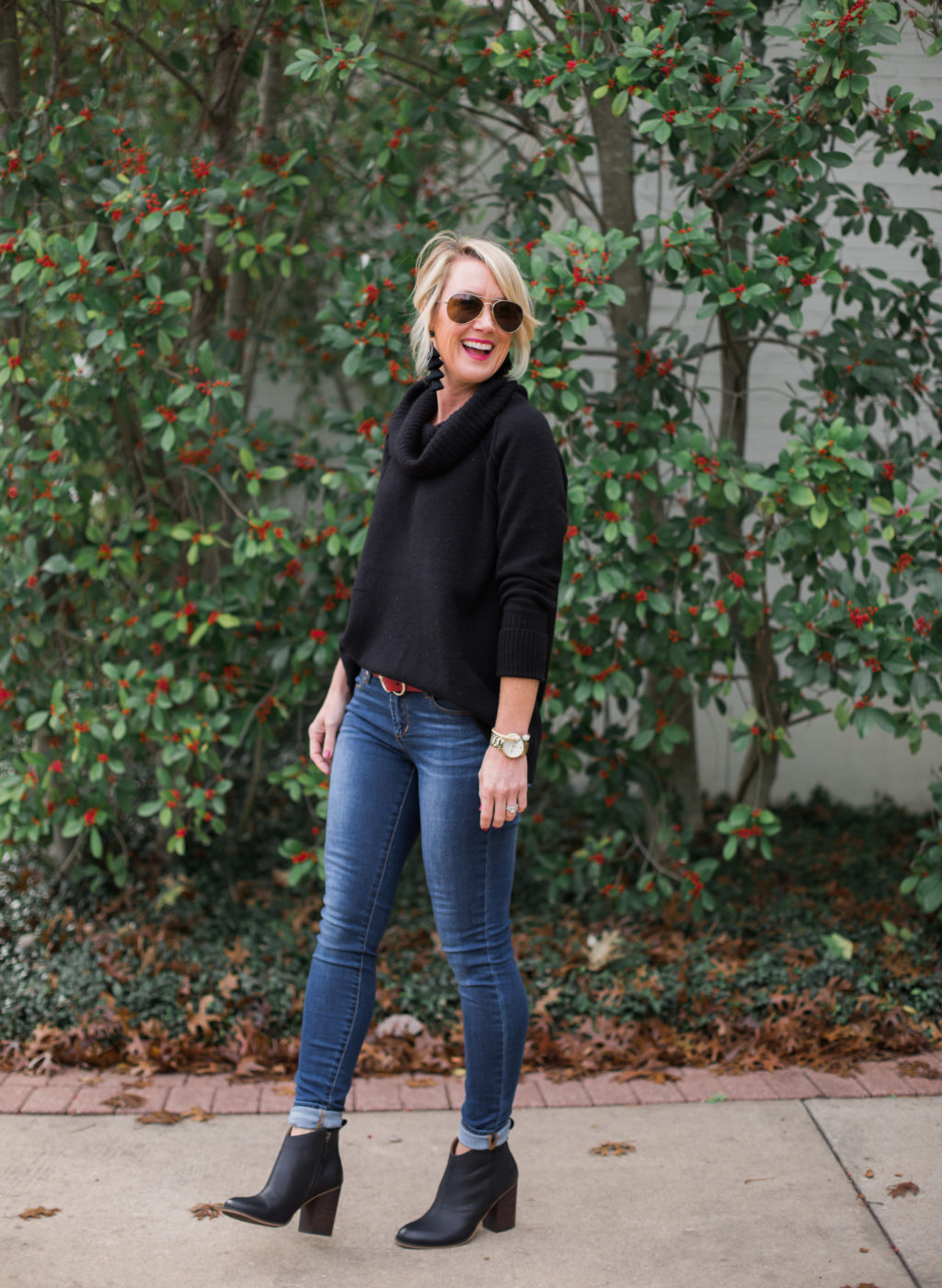 7f2f6c06e92 Sugarplum Style Tip | How to Wear Ankle Boots with Skinny Jeans | hi ...