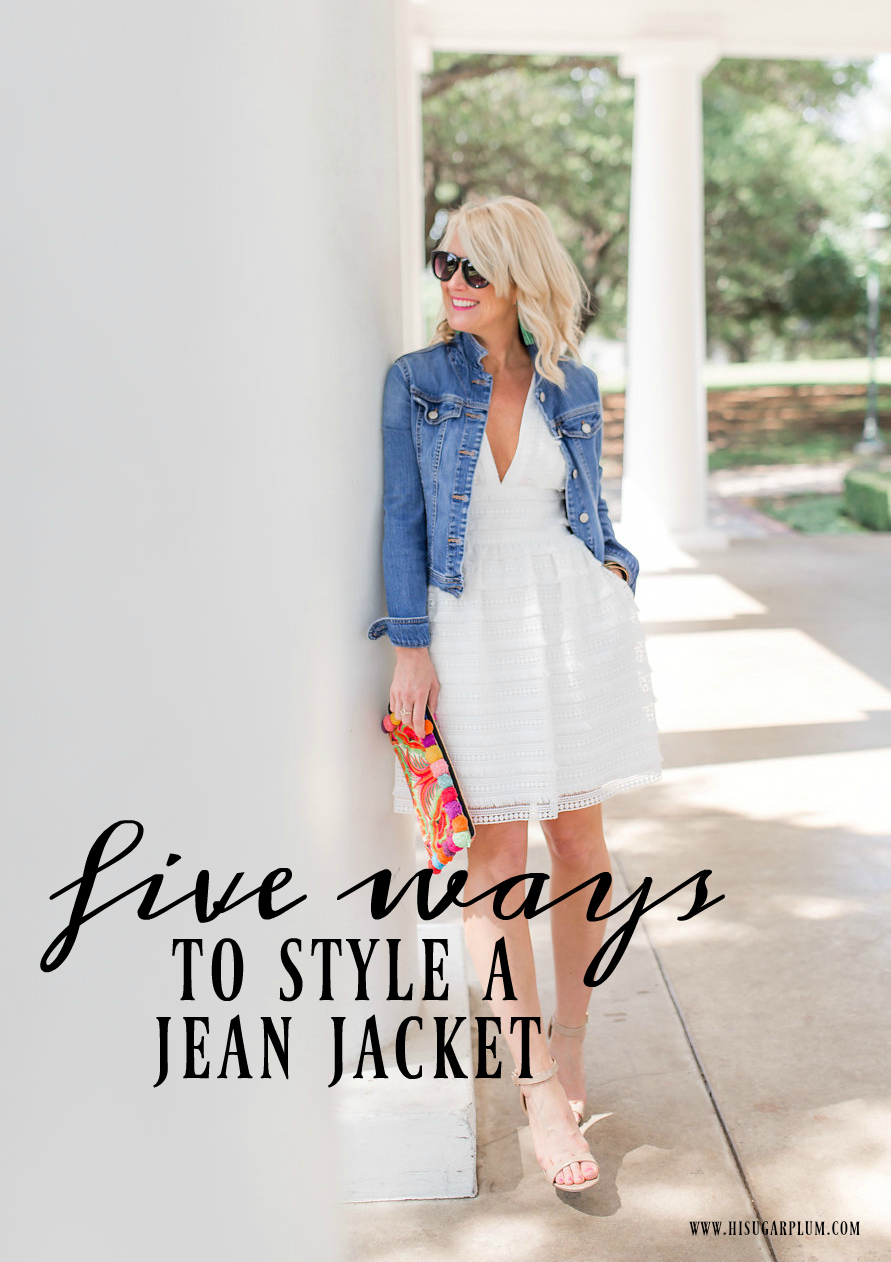 five ways to style jean jacket
