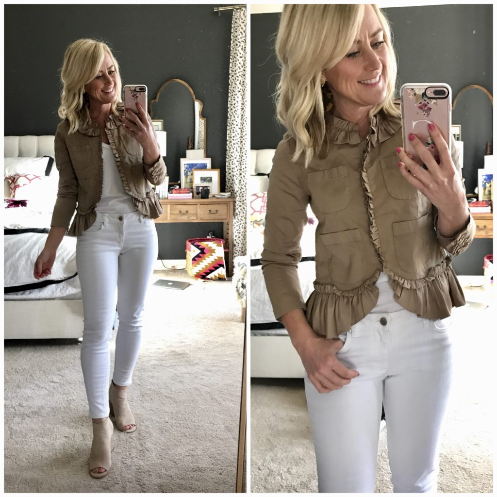 hi sugarplum dressing room diaries ruffle chino jacket