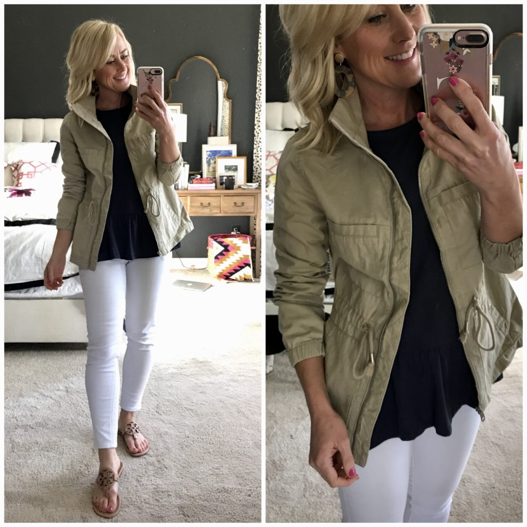 hi sugarplum dressing room diaries tan utility jacket