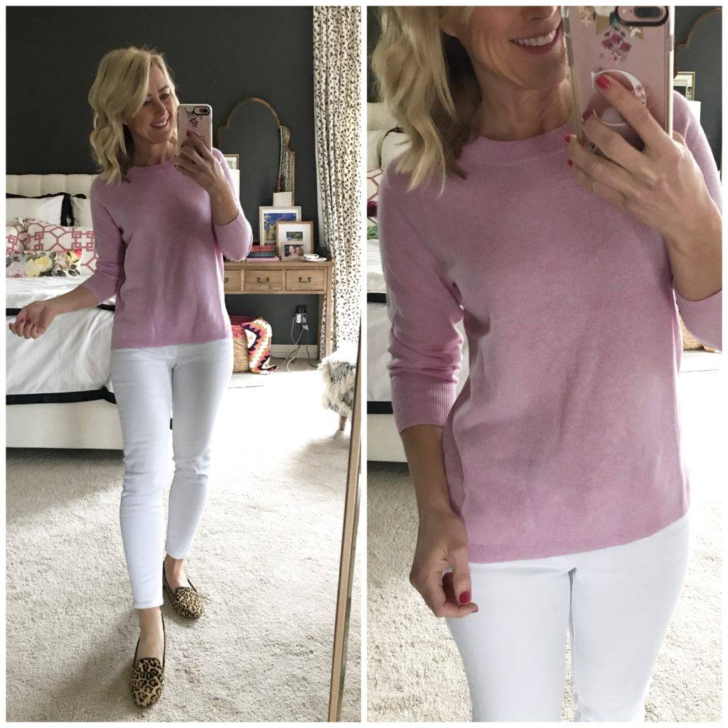 hi sugarplum dressing room diaries lilac cashmere sweater