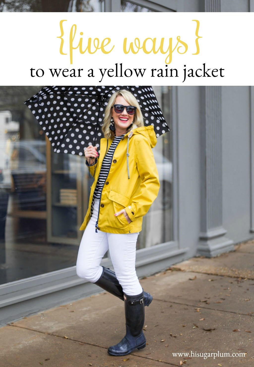 5 ways to wear a yellow rain jacket