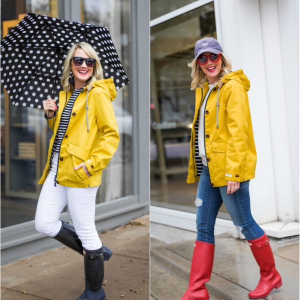 joules yellow rain jacket hunter boots