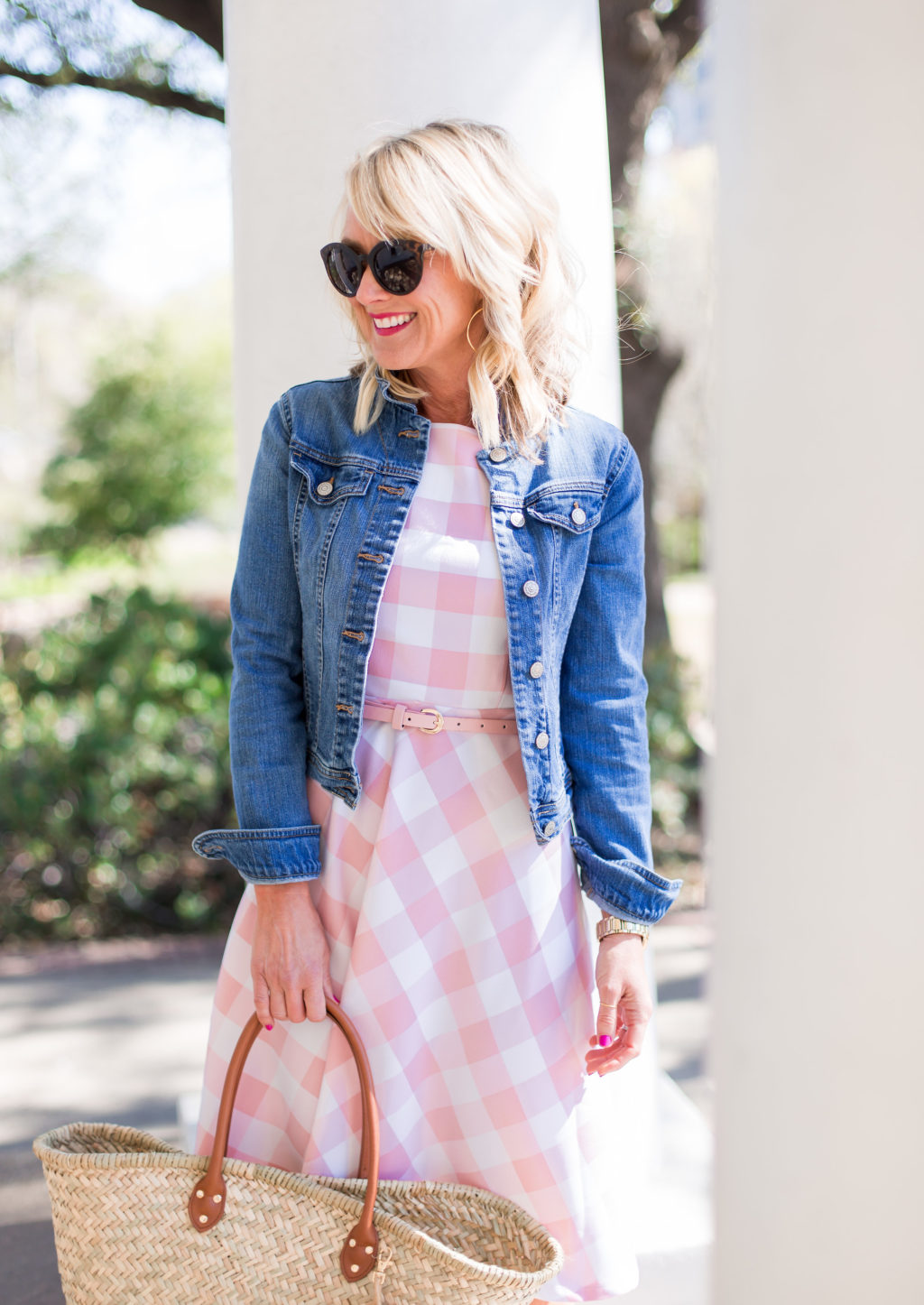 jc penney gingham dress spring