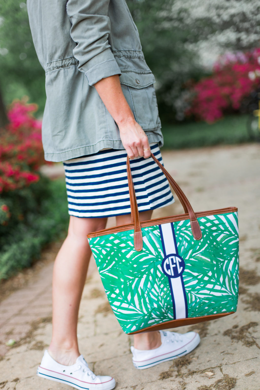monogrammed barrington gifts tote bag