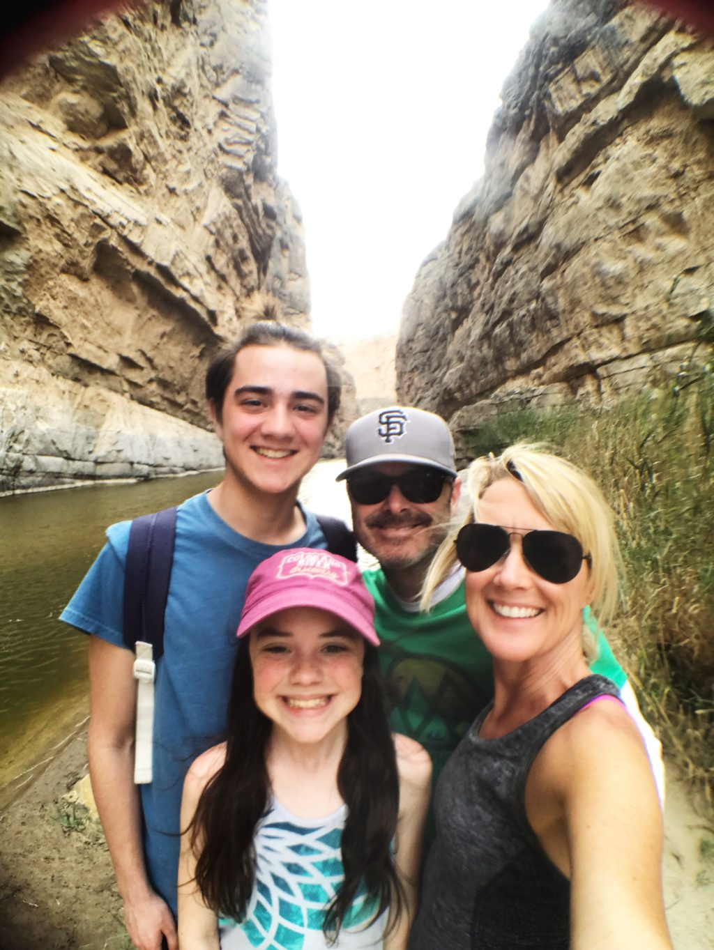 family hike in big bend national park road trip in canyon