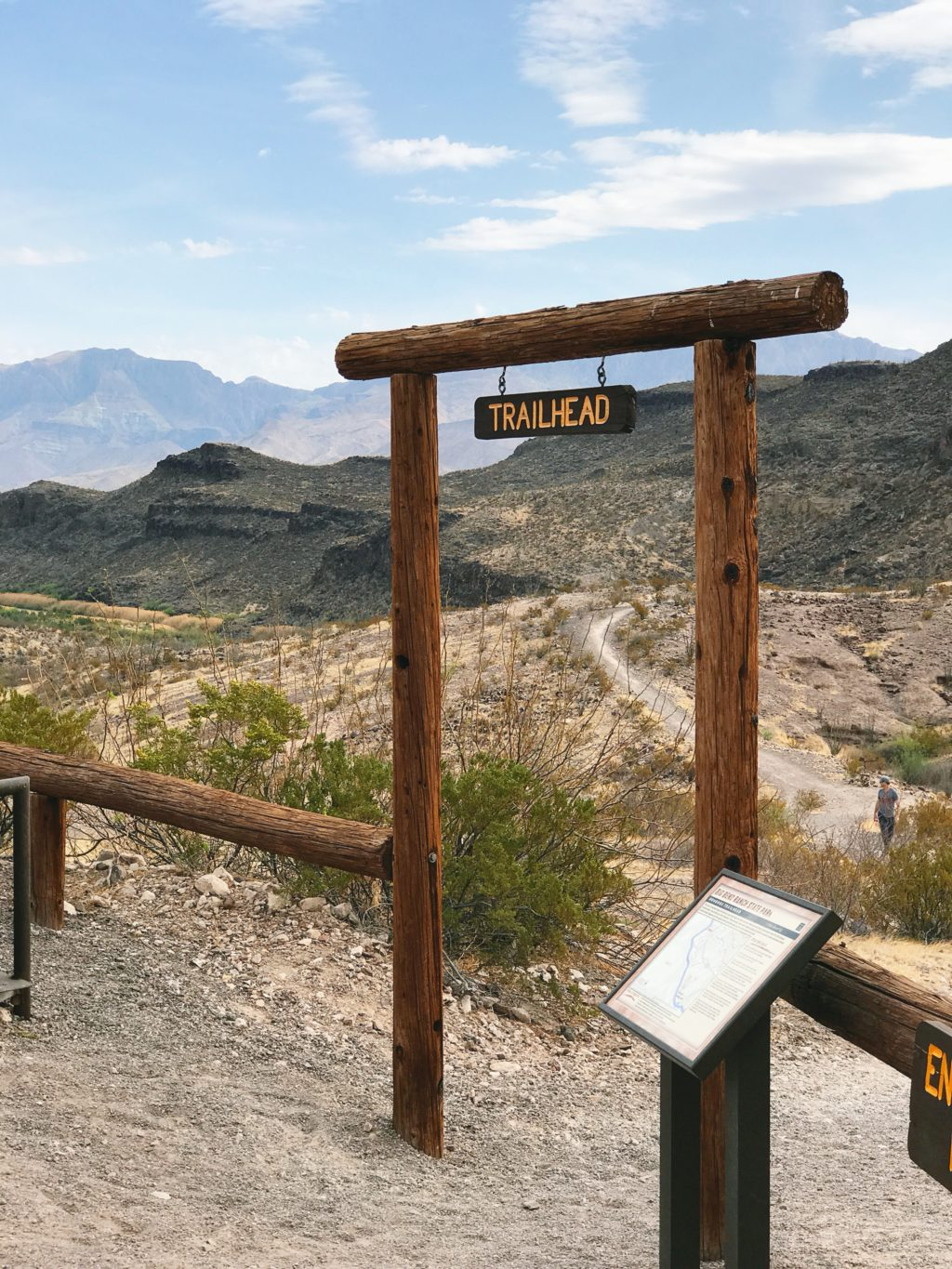 trailhead in big bend national park texas