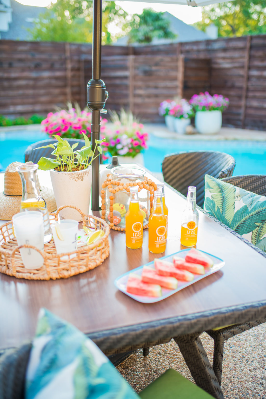 watermelon snacks and drinks to serve by your pool during summer