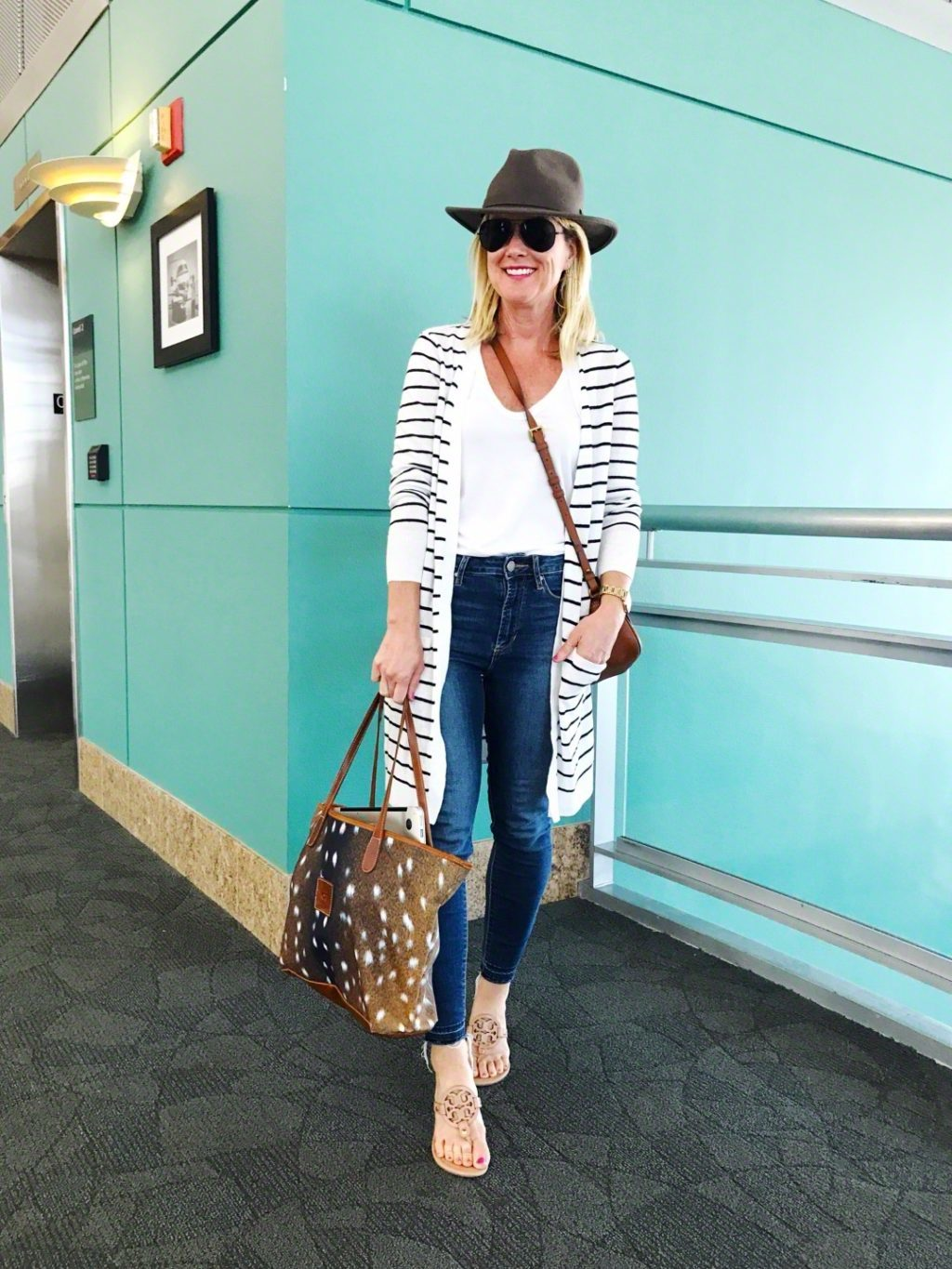 cozy cute airport outfit for travel