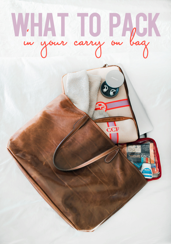 what to pack in your carry on tote bag