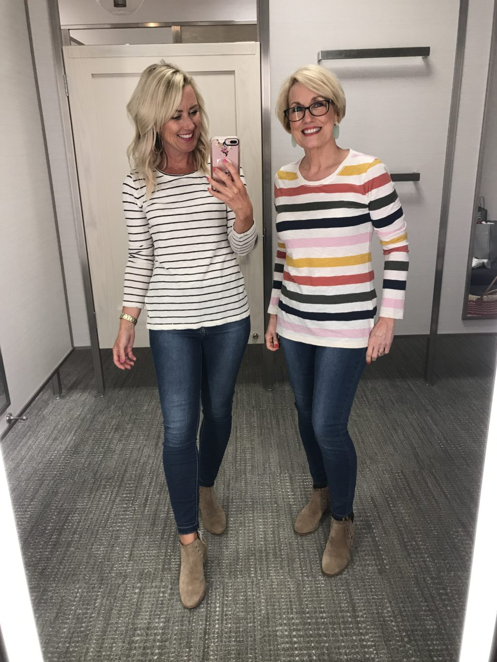 caslon long sleeve striped crew neck tee nordstrom anniversary sale
