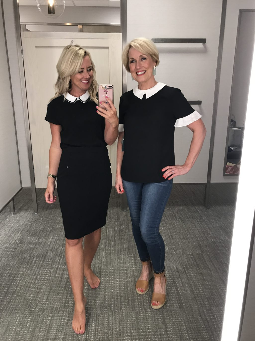 cece black and white collar tops nordstrom anniversary sale