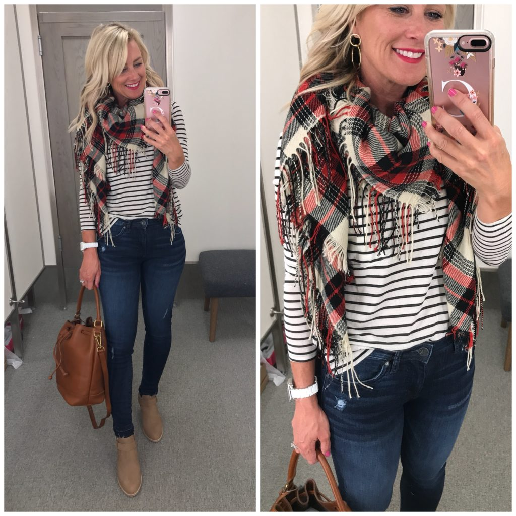 sole society plaid scarf
