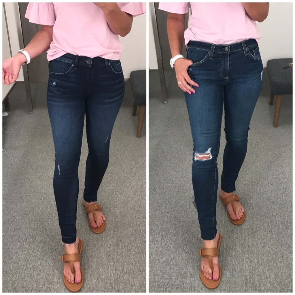 distressed dark wash jeans nordstrom anniversary sale