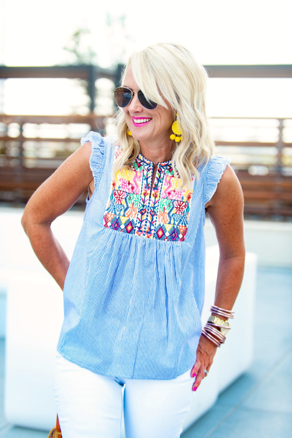 embroidered summer top