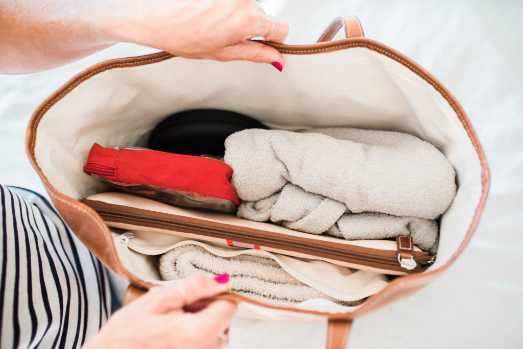 how to pack in a barrington tote bag for flight