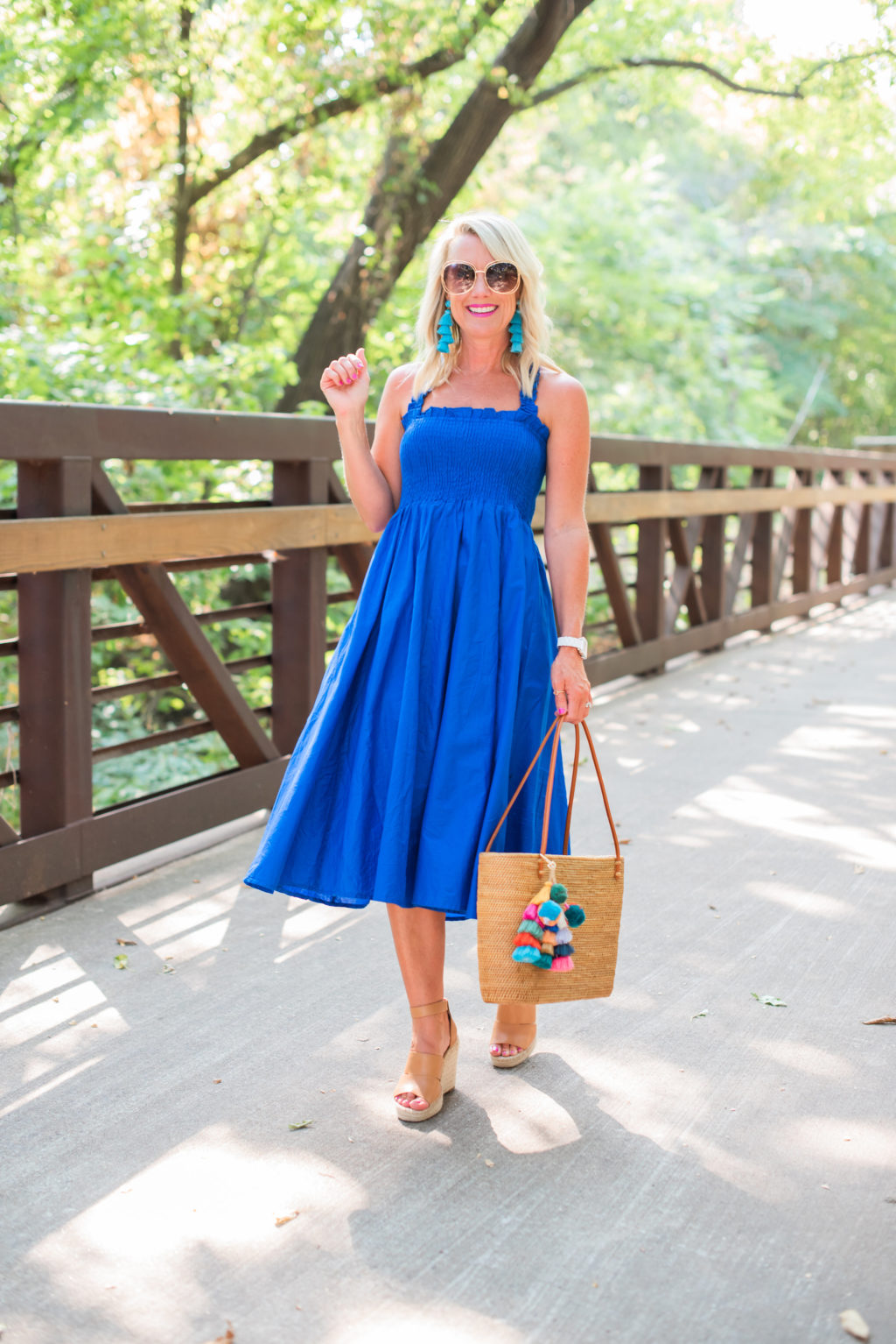 cobalt blue sundress amazon