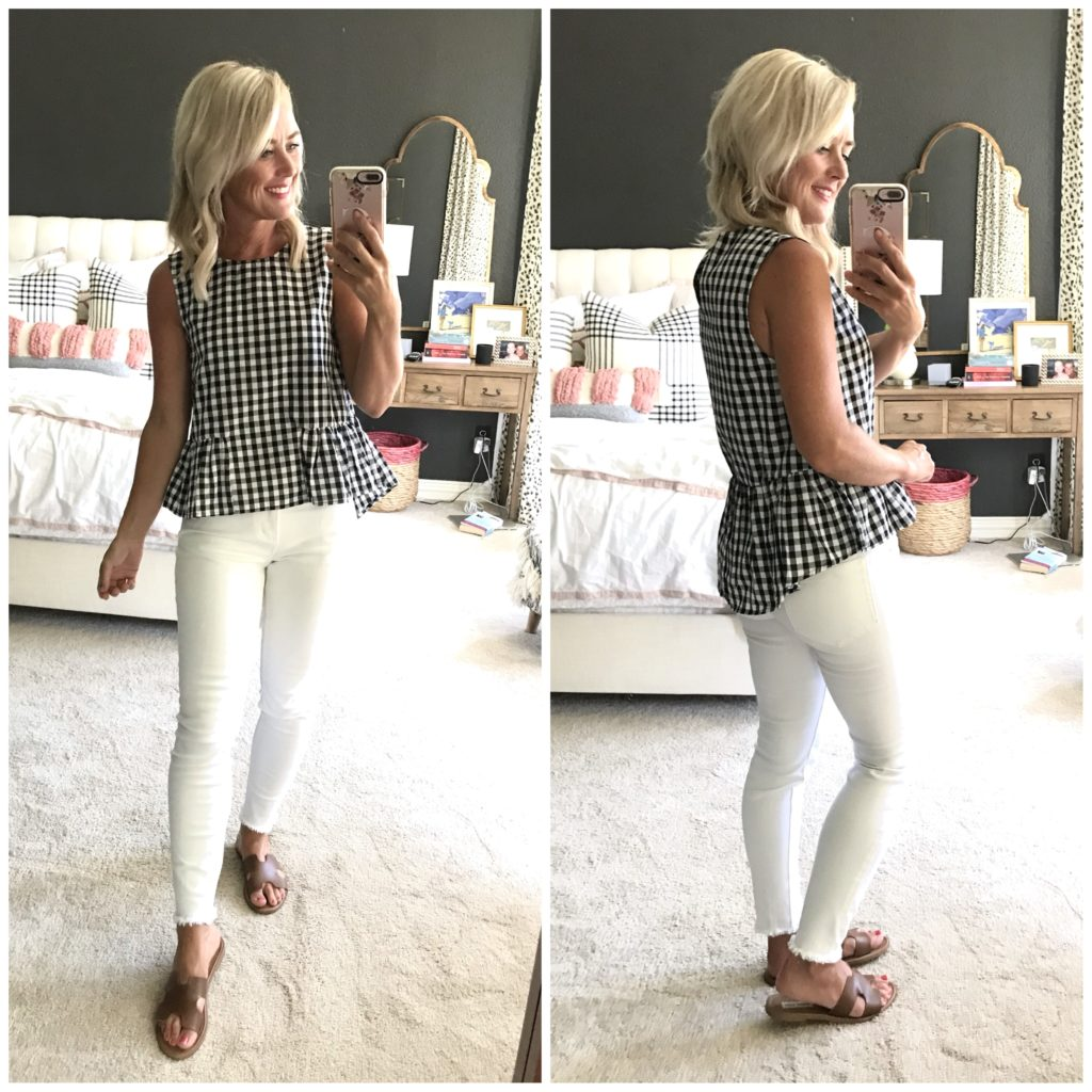 amazon gingham peplum top