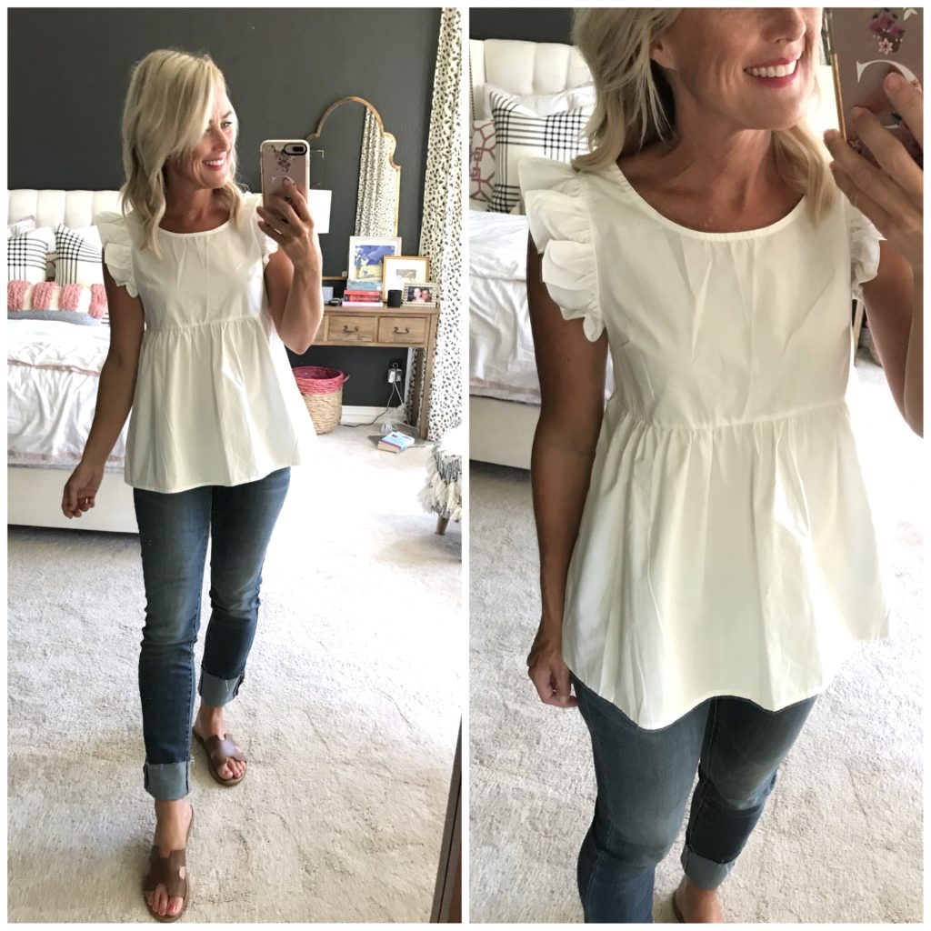 amazon tie back ruffle top