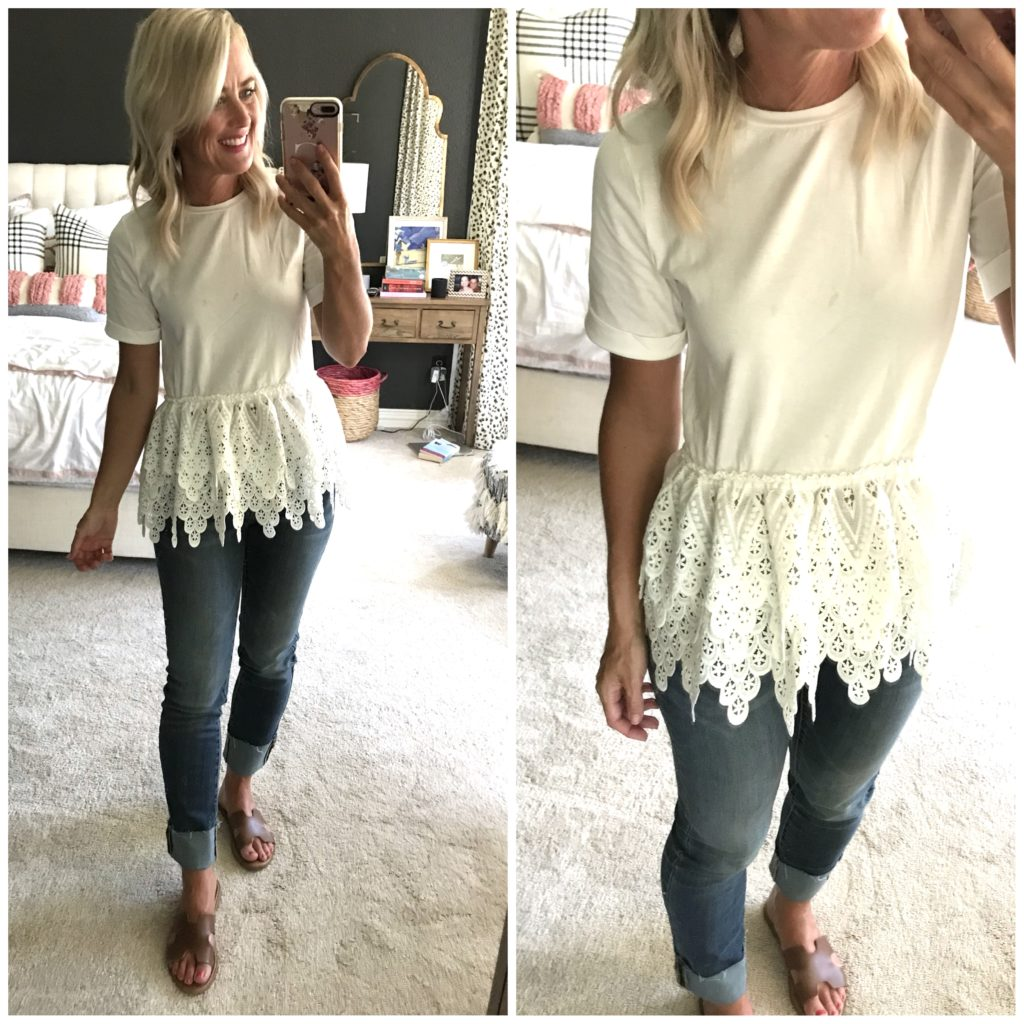 amazon peplum tee