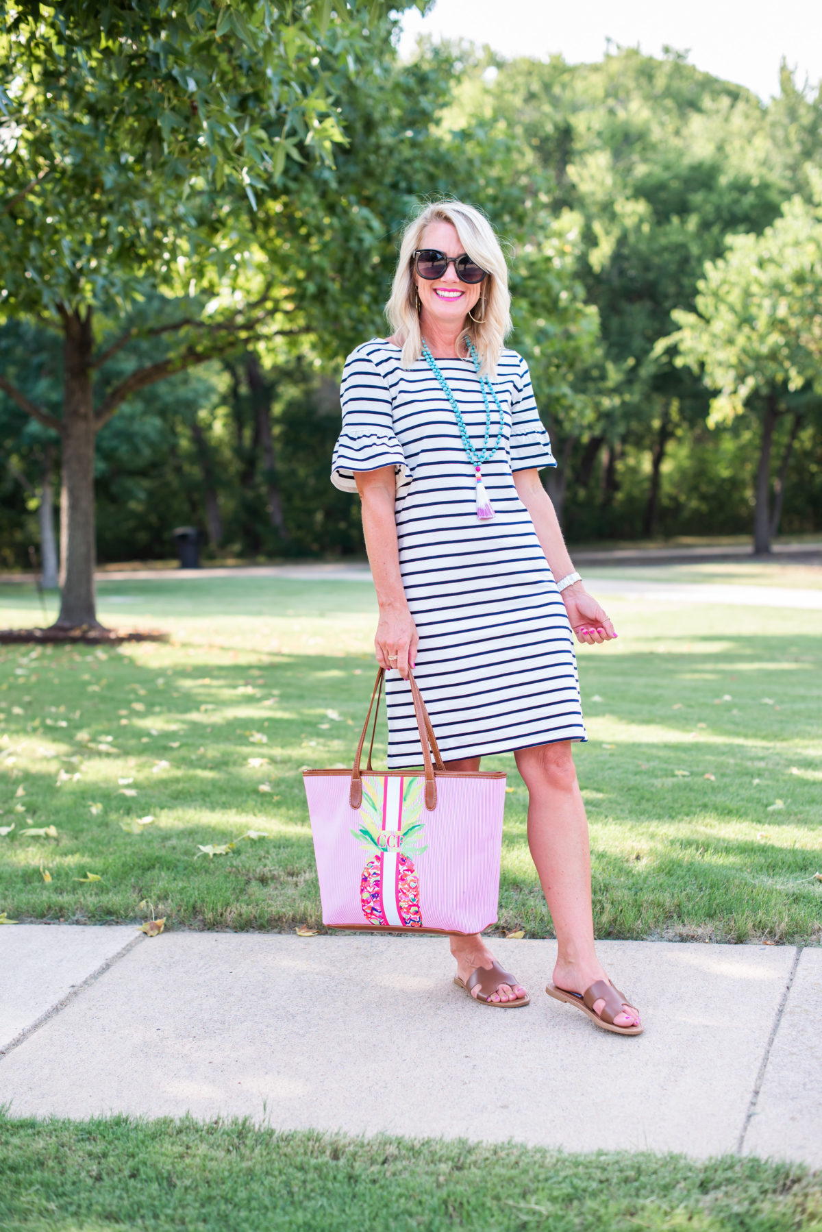 jcrew striped dress